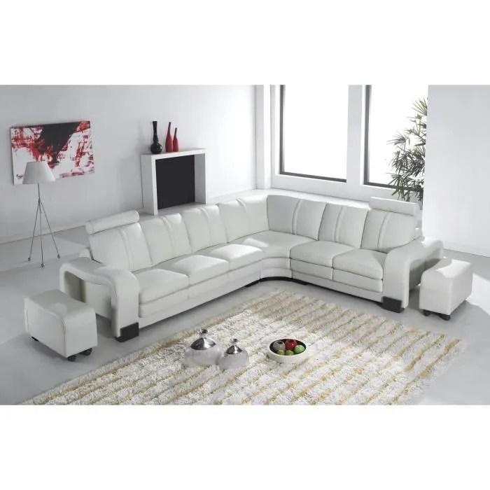 Salon En Cuir Blanc Fabulous With Salon En Cuir Blanc