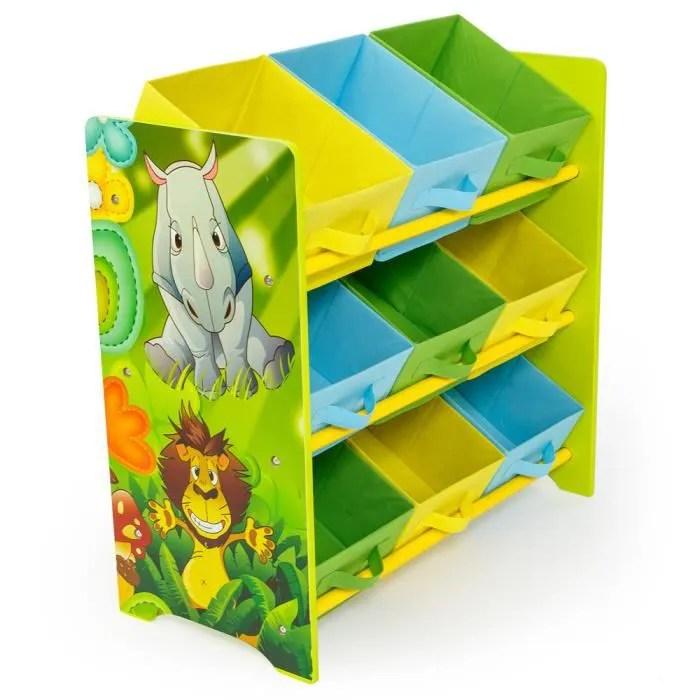 meuble de rangement pour enfant motif de jungle