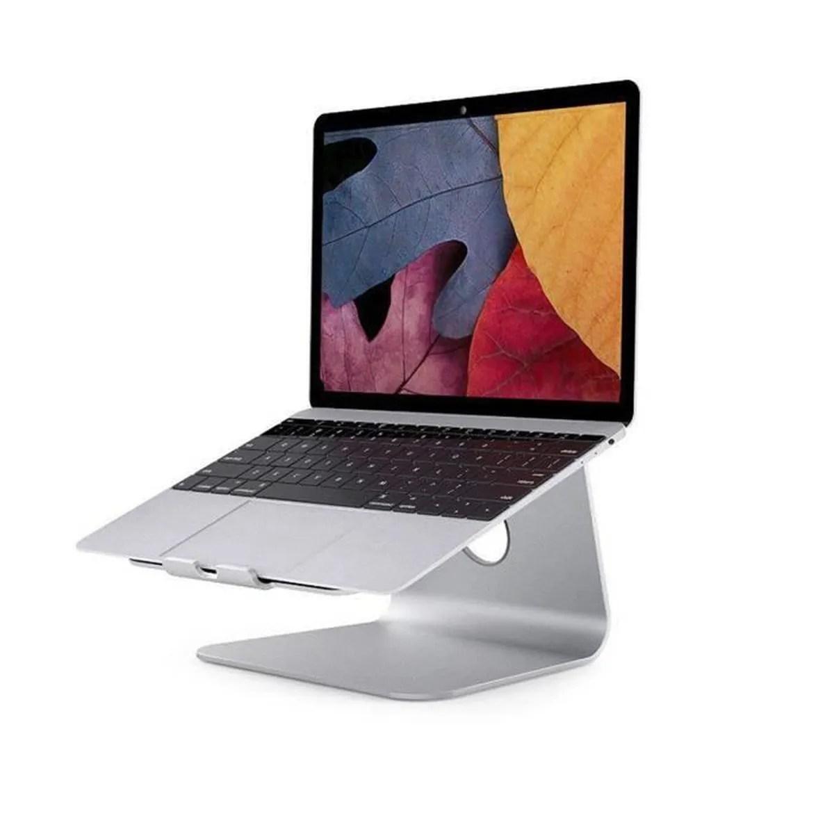 rotation 360 degres en aluminium support de refroidissement pour ordinateur portable pour apple macbook argent