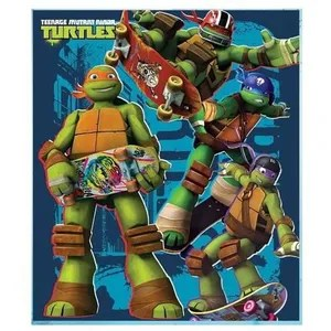 couverture plaid plaid polaire tortues ninja