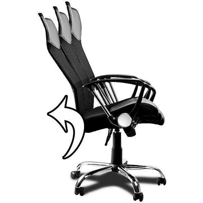 Fauteuil Chaise De Bureau Noir Inclinable Ergonomique