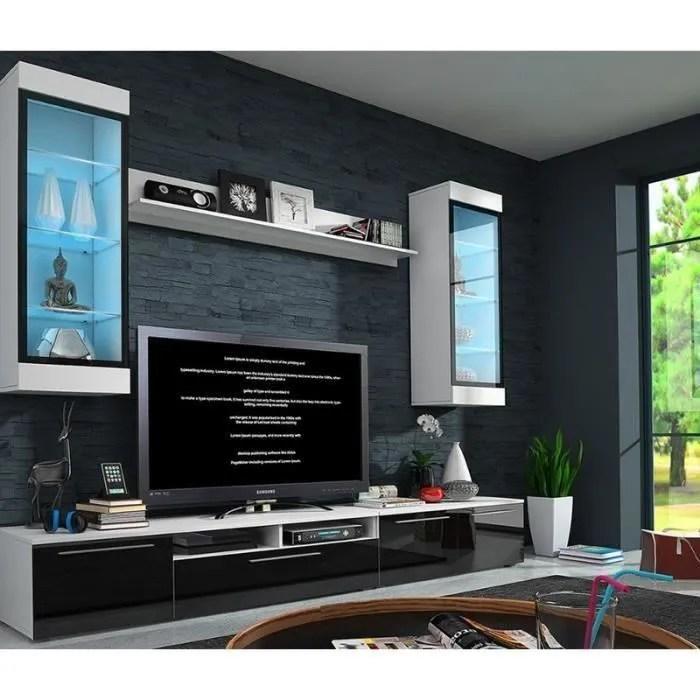 ENSEMBLE MEUBLE BAS TV DESIGN AVEC LED DEAUVILLE Achat