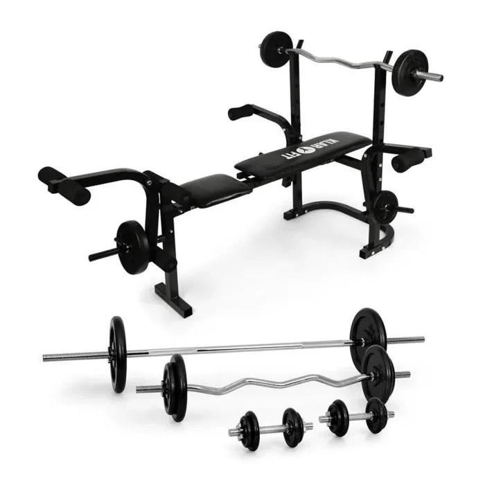 Klarfit Fitness Banc De Musculation Avec Set Dhaltres