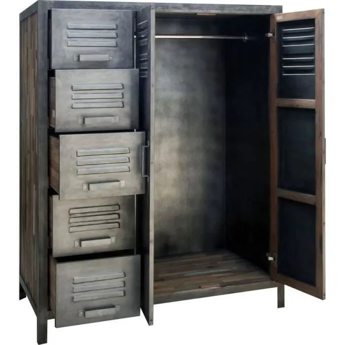 Armoire Mtal 110 X 145 Cm Besi Inwood Achat Vente