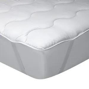 classic blanc surmatelas en fibre bien etre confort medium ferme epaisseur