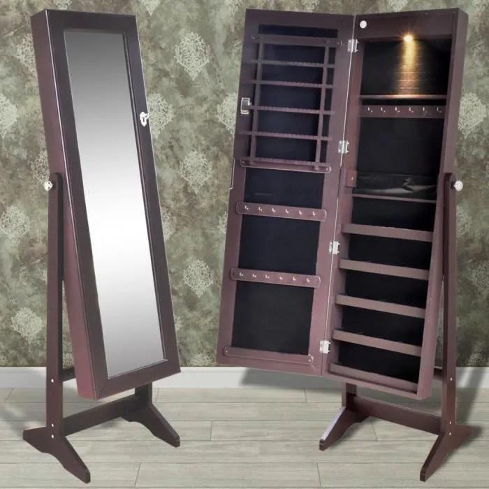 Armoire Bijoux Debout De Chambre Avec Miroir Et