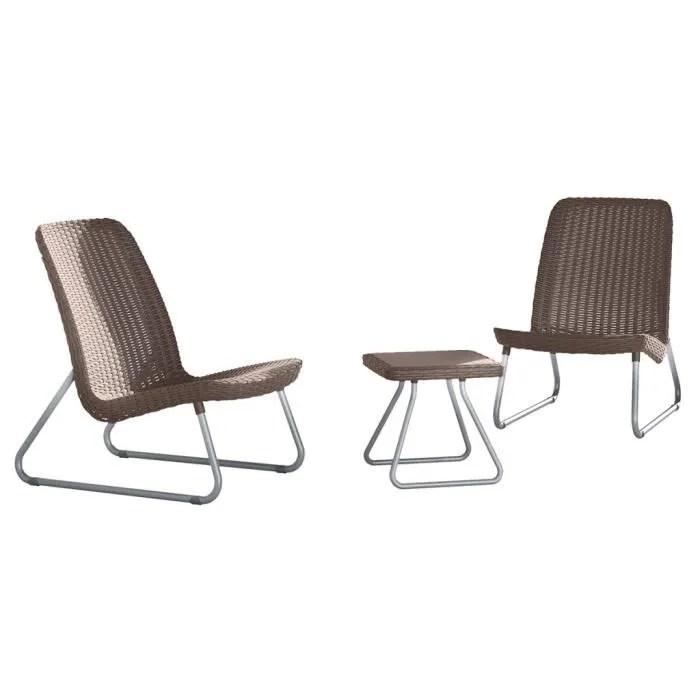 salon de jardin keter ensemble de meubles de patio rio 3 pcs 17197