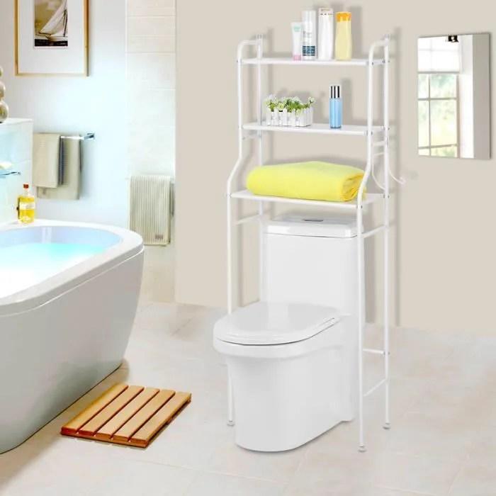 etagere de wc meuble dessus wc rangement stockage blanc