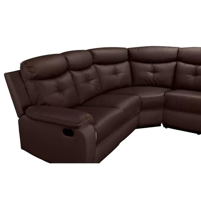 canape sofa divan lucie canape d angle inclinable simili cuir