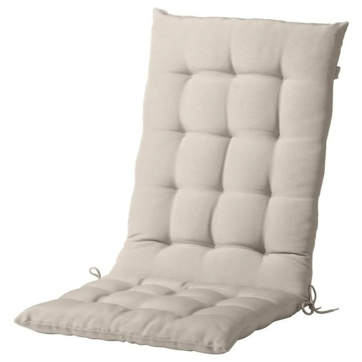 Coussin Assise Dossier Couleur Beige Pour Chaise Terrasse Ou