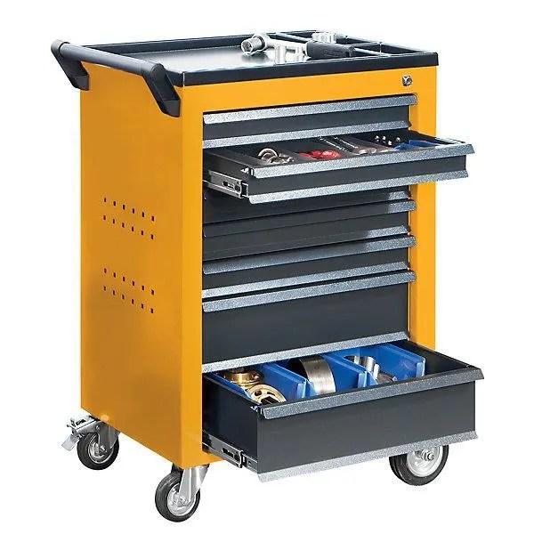 armoire de bureau quipo servante d atelier 7 tiroirs a blocage ind