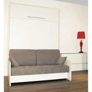 cette armoire lit space sofa se transforme en lit de 160 200 cm avec un vrai canape integre aucun coussins a retirer le tout s