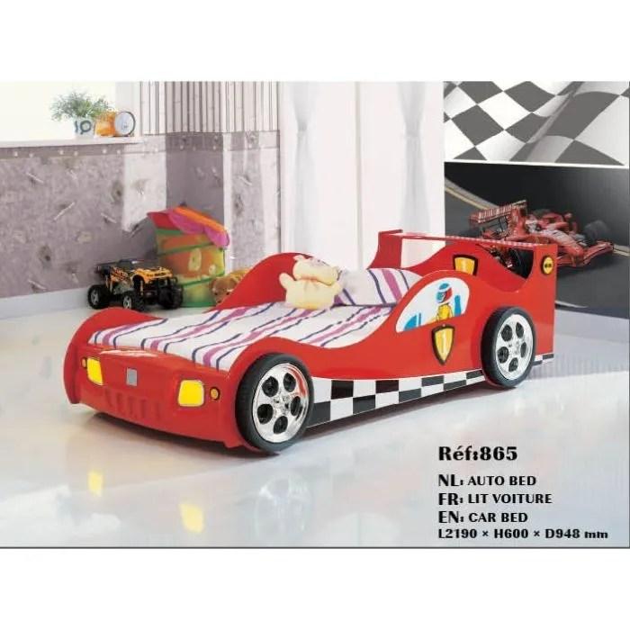 lit enfant pour garcon voiture f1 rouge