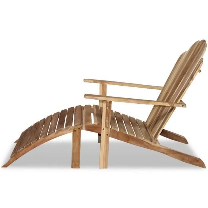 chaise adirondack en teck