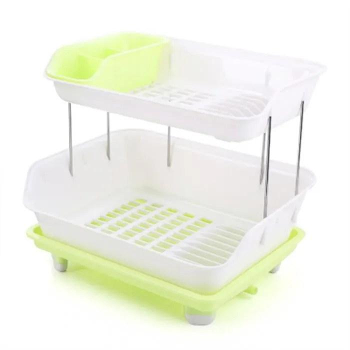 Egouttoir Vaisselle Plastique 2 Niveaux Unixpaint