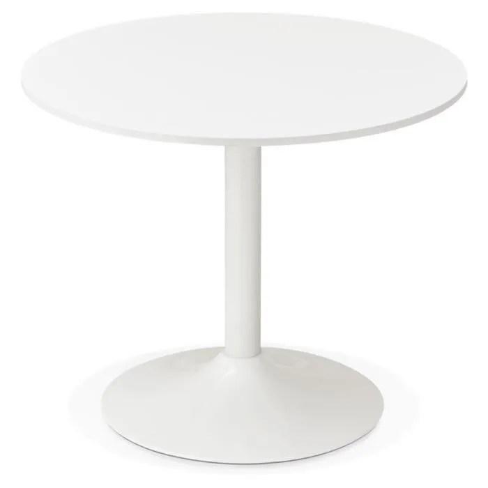petite table a diner ronde orlando blanche o 90 cm