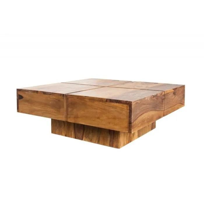 Table Basse Design Bois Massif