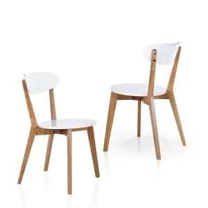 chaise chicago chaise avec siege en similicuir blanc et