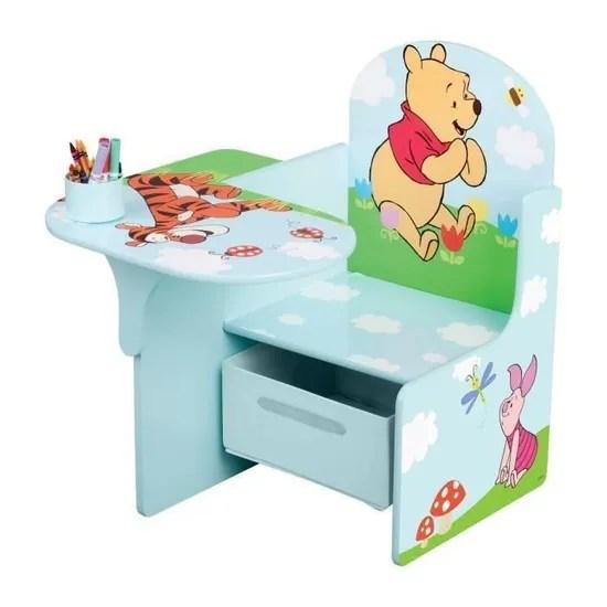 winnie l ourson pupitre enfant avec rangement bleu et multicolore achat vente bureau bebe enfant cdiscount