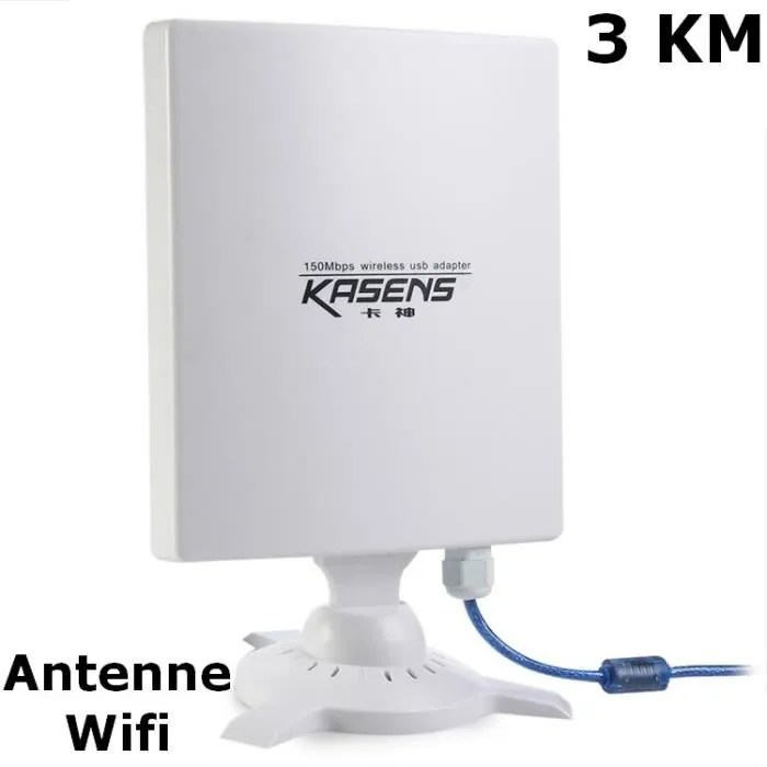 antenne wifi usb tres longue portee de 3 km 150mbps 80 dbi