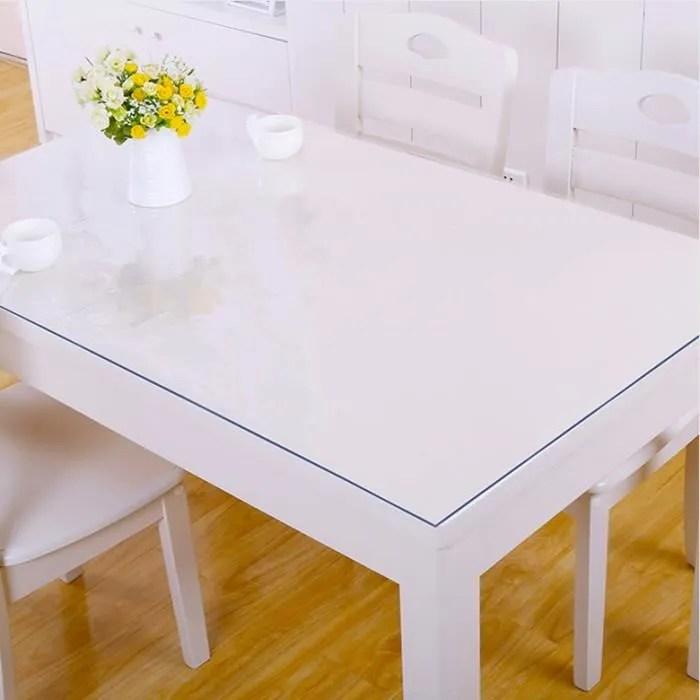 tempsa transparent nappe de table en pvc decoration maison pour protection 80x80cm