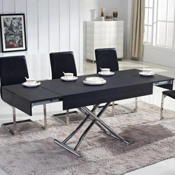 table basse relevable ema bois noir