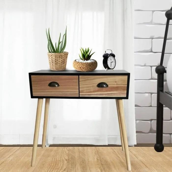 console console vintage table d appoint decor chene bureau