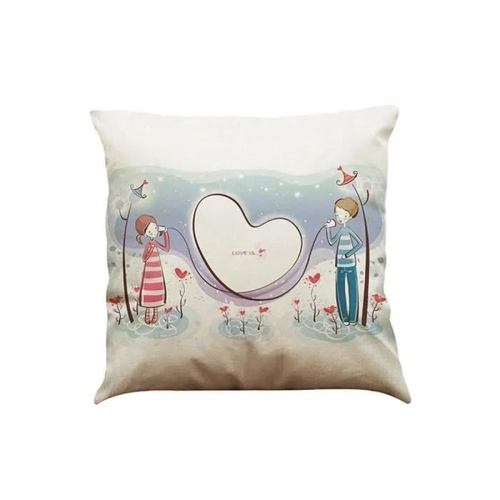 45cmx45cm couples d amour taie d oreille canape lit housse de coussin linge de coton decoration a la maison wtx70302484b