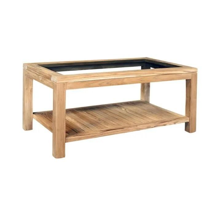 Table Basse Vitre Rectangulaire OSLO 90 Achat Vente