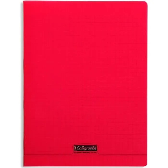 CLAIREFONTAINE Calligraphe Cahier Piqu Polypro Rouge 24 X