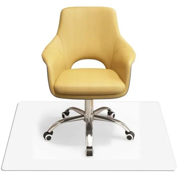 tapis pour chaise en pvc 150x120cm tapis de protection sol antiderapant tapis de bureau carre transparent