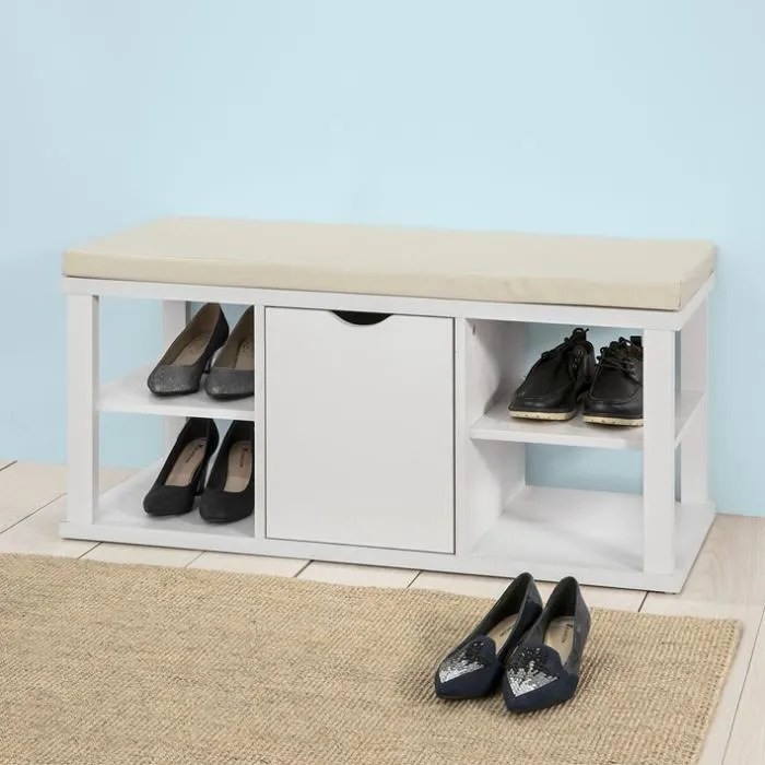 sobuy fsr52 w meuble a chaussures banc de rangeme