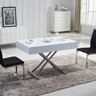 table basse relevable ema laquee blanc achat vente table basse table basse relevable ema l bois metal cdiscount