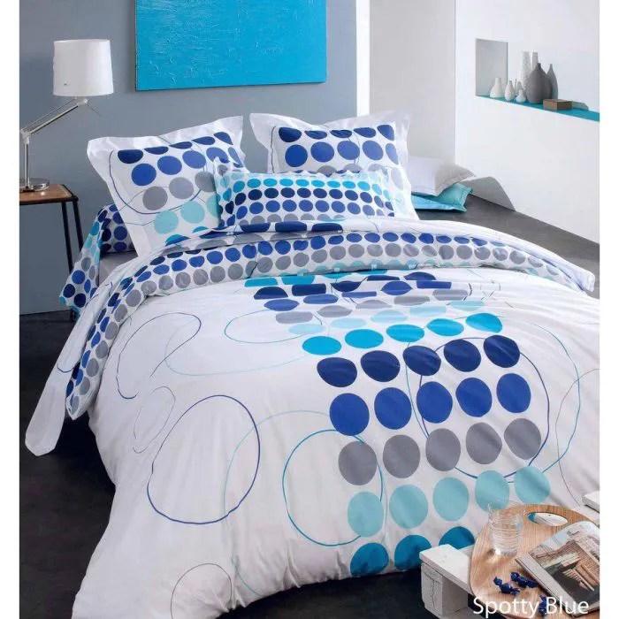 parure de lit spotty bleu 240x220