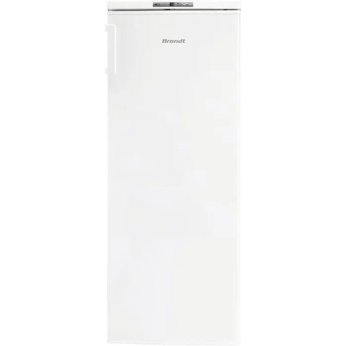 brandt bfu4425sw congelateur armoire 161 l froid statique a l 55 x h 143 cm blanc