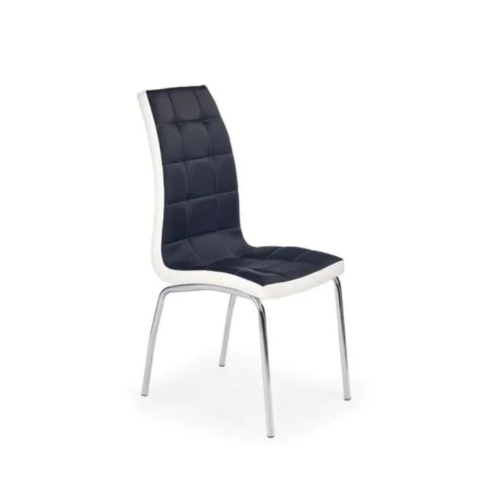 justhome chaise salle a manger k186 noir blanc h x l x p 100x42x63 cm