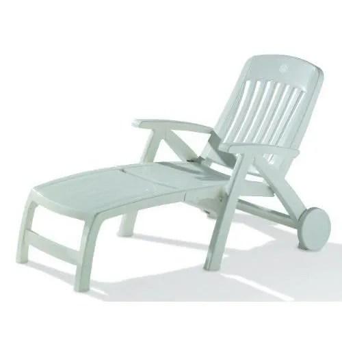 Chaise Longue En Plastique Blanc Latest Chaise Longue En