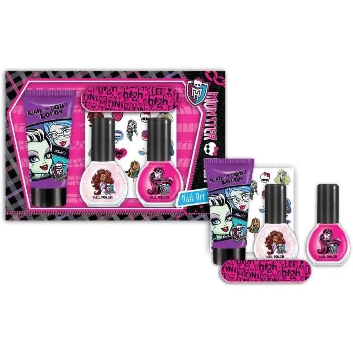 Coffret Nail Art Set Monster High 5 Pcs