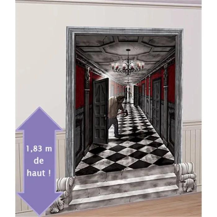 Dcoration Halloweeen Murales Couloir De Manoir Achat