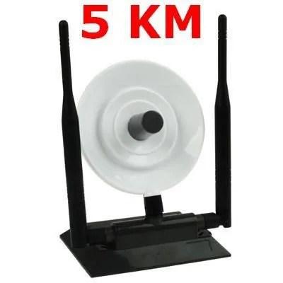 antenne wifi sans fil usb 38 dbi portee de 5 km