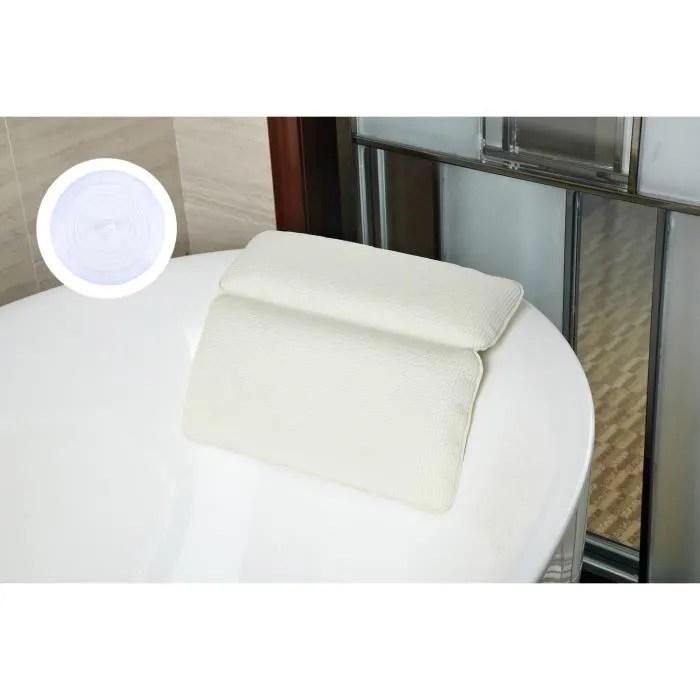 oreiller de baignoire kapmore coussin de baignoire avec silicone baignoire bouchon pour bain spa baignoire et douche