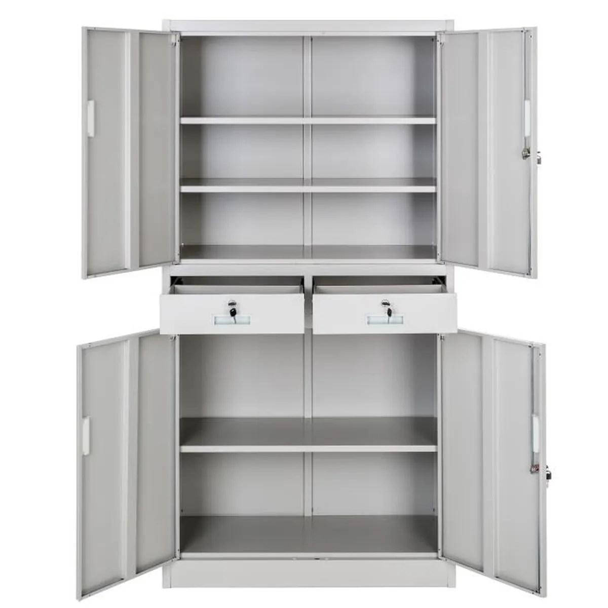 armoire de rangement metallique pas