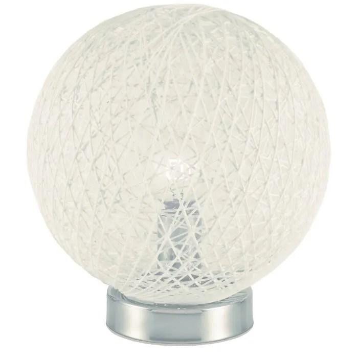 lampe a poser baya lampe a poser boule rotin diametre 20cm hau