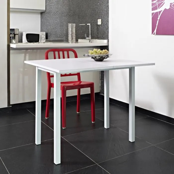KITCHEN Table Extensible 80x4580cm Blanche Achat