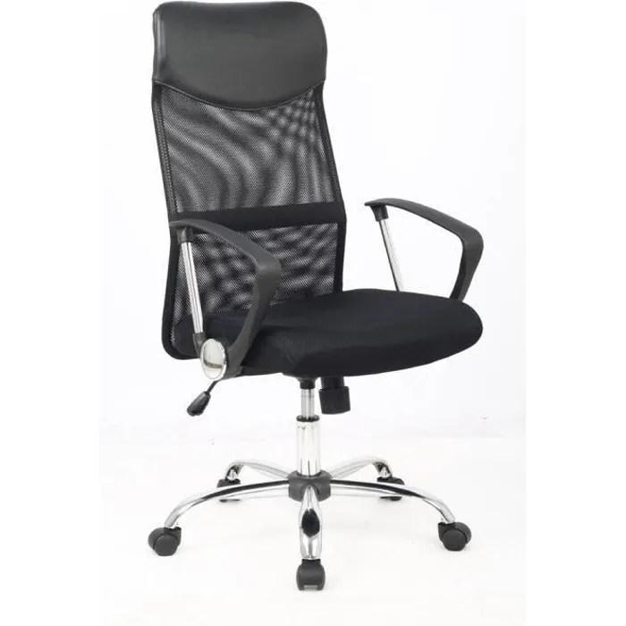 karl fauteuil de bureau en simili ergonomique noir l 49 x 50 cm