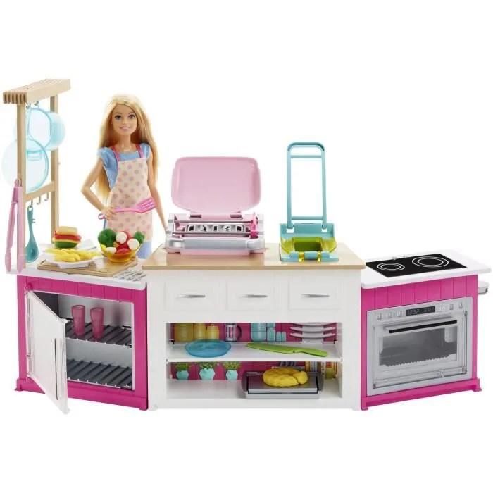 barbie coffret cuisine a modeler sonore et lumineux