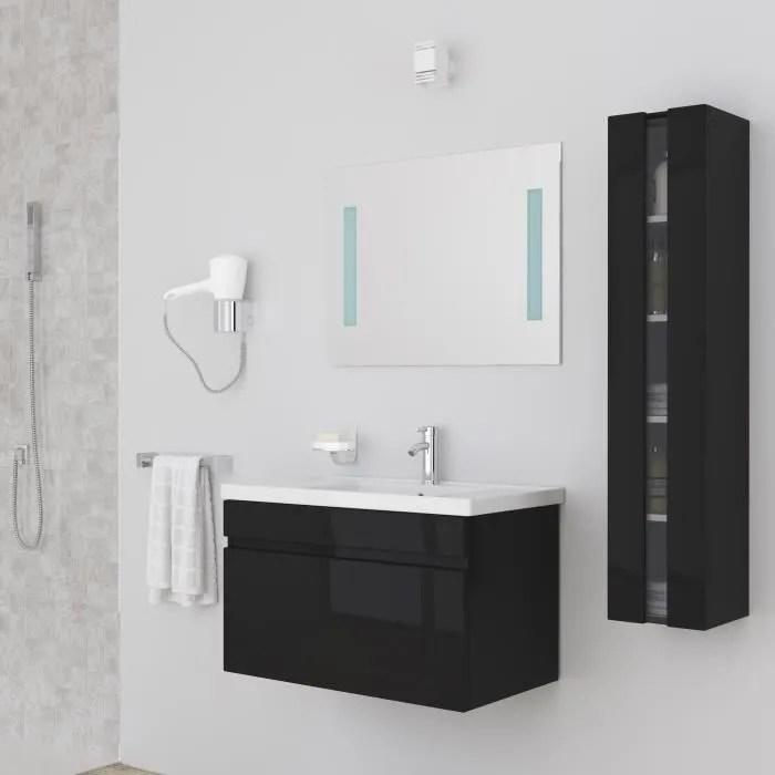 meuble salle de bain noir