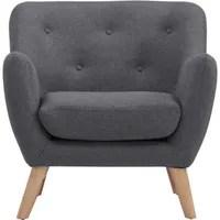 fauteuil scandi fauteuil scandinave en tissu chin 233