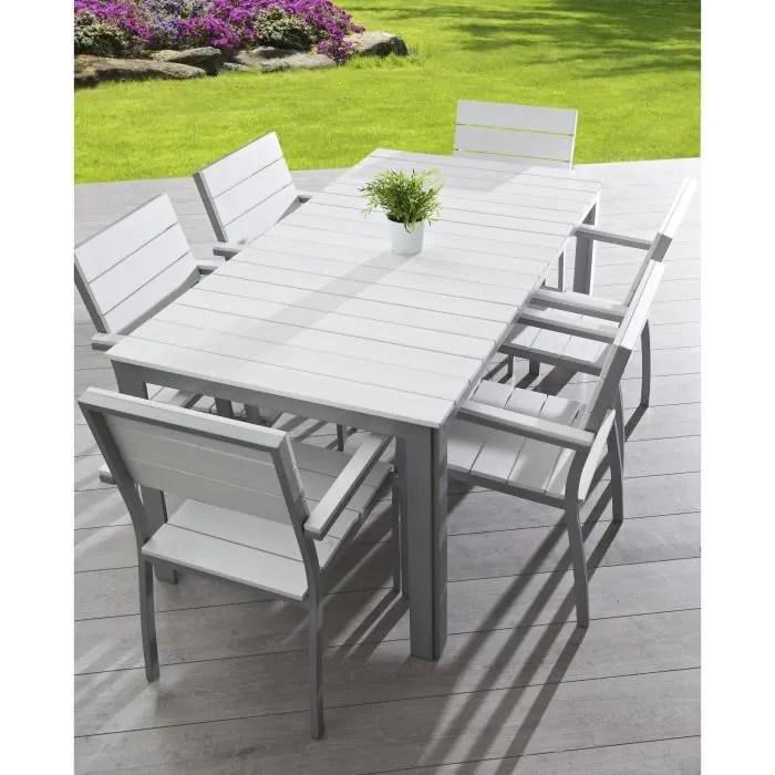 salon de jardin aluminium et composite