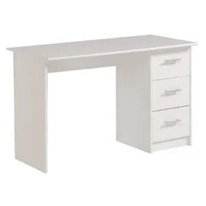 bureau essentielle bureau classique blanc mat l 121 cm